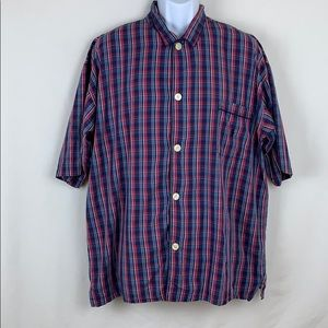 Polo Ralph Lauren plaid big buttons size L